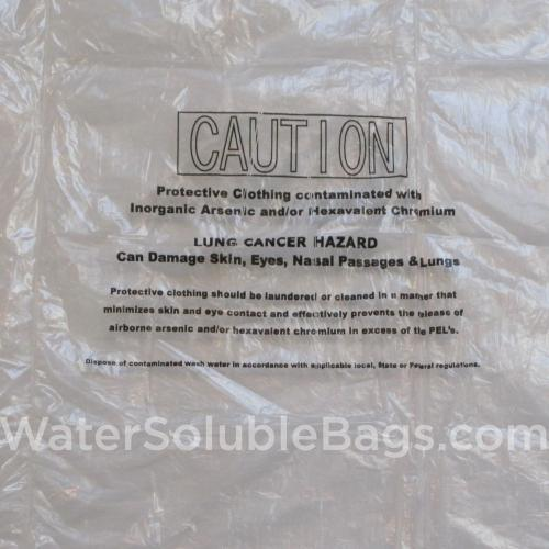 welding warning water soluble bags