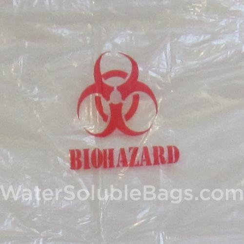 biohazard water soluble bag